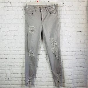 AE Distressed Hi Rise Supter Stretchy X Jeggings